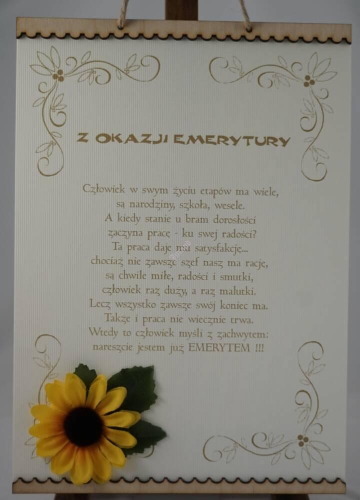 Dyplom Z Okazji Emerytury